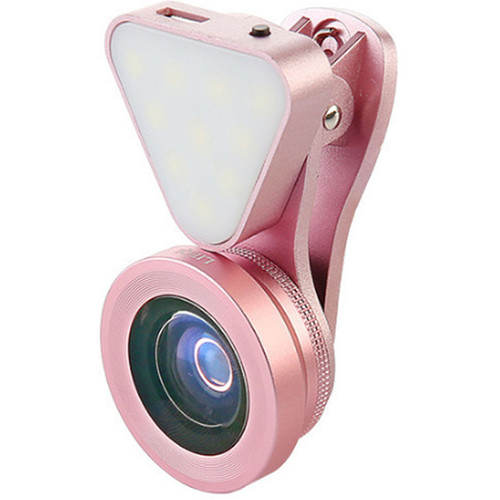 UmAid 3-In-1 Light with Lens Kit for Smartphones (Rose Gold)