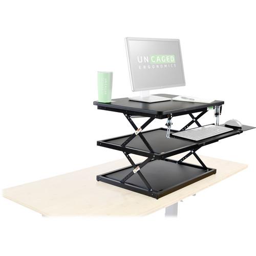 Uncaged Ergonomics CHANGEdesk Height-Adjustable Standing Desk Converter