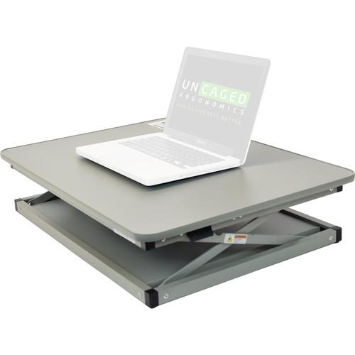 Uncaged Ergonomics Changedesk Mini Black Standing Desk (Grey)