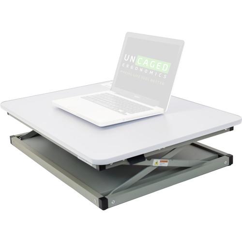 Uncaged Ergonomics Changedesk Mini Black Standing Desk (White)