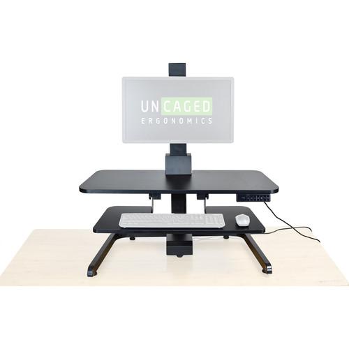 Uncaged Ergonomics Electric Standing Desktop Workstation (Black)