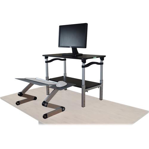 Uncaged Ergonomics Lift Standing Desk Converter (Black/Silver)