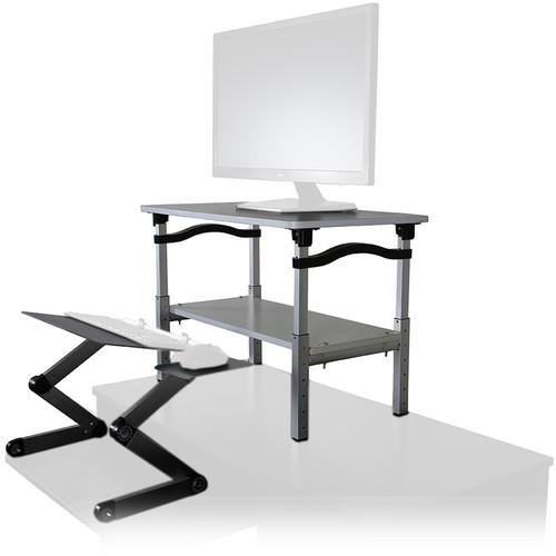 Uncaged Ergonomics Lift Standing Desk Converter (White/Black)