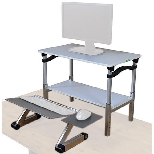 Uncaged Ergonomics Lift Standing Desk Converter (White/Silver)