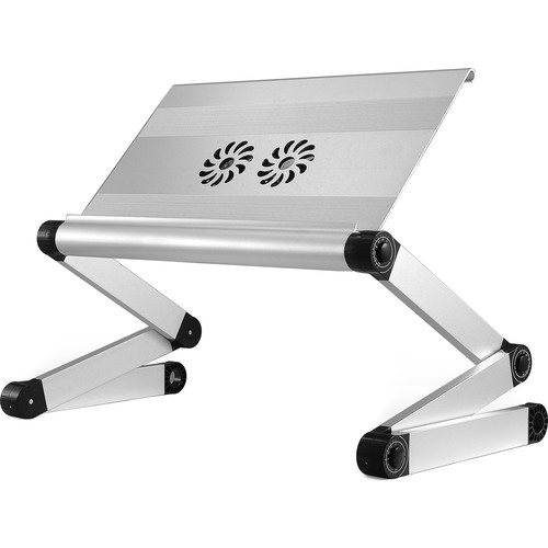 Uncaged Ergonomics WorkEZ Executive Laptop Stand with 3 USB Ports and 2 Cooling Fans (Silver)