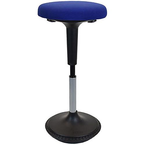 Uncaged Ergonomics Wobble Stool Black Fabric Seat (Blue)