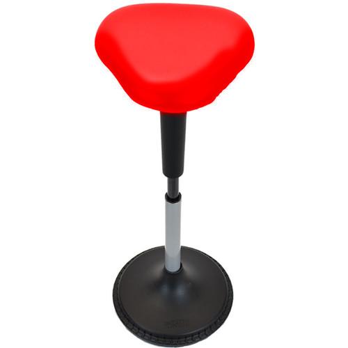 Uncaged Ergonomics Wobble Stool - Triangular Vinyl Seat (Red)