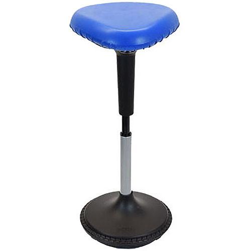 Uncaged Ergonomics Wobble Stool - Triangular Vinyl Seat (Blue)