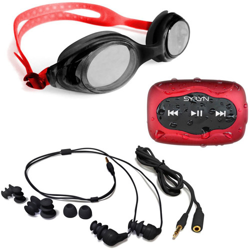 Underwater Audio SYRYN Waterproof MP3 Player and Swimbuds In-Ear Headphones Bundle