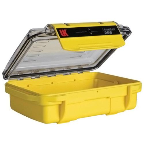 Underwater Kinetics UltraBox 206 (Yellow/Clear Lid, Empty Box)