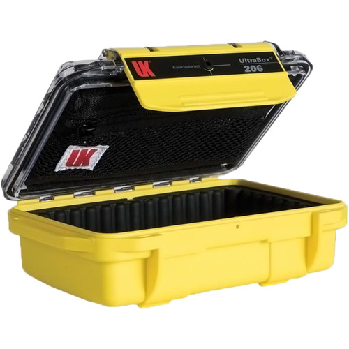 Underwater Kinetics UltraBox 206 (Yellow/Clear Lid with Pouch, Padded Box)