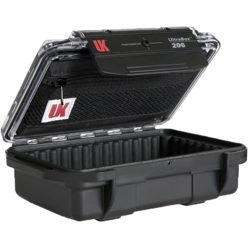 Underwater Kinetics UltraBox 206 (Black/Clear Lid with Pouch, Padded Box)