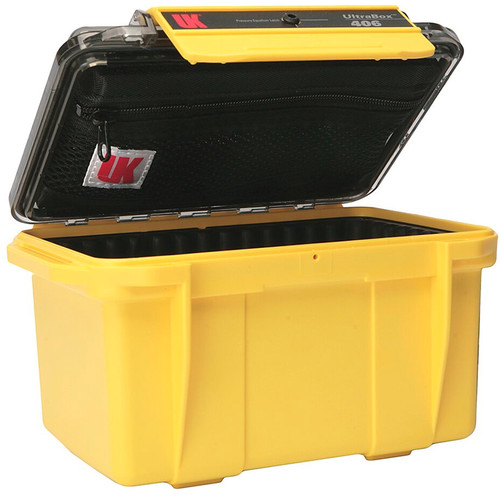 Underwater Kinetics UltraBox 406 (Yellow/Clear Lid with Pouch, Padded Box)