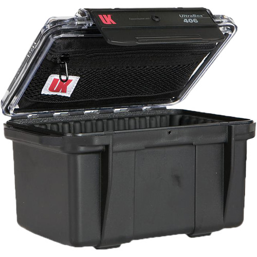 Underwater Kinetics UltraBox 406 (Black/Clear Lid with Pouch, Padded Box)