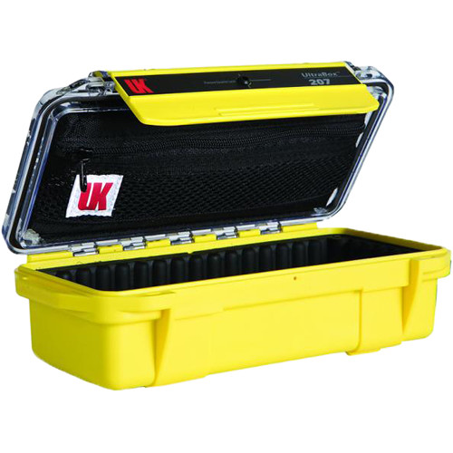 Underwater Kinetics UltraBox 207 (Yellow/Clear Lid with Pouch, Padded Box)