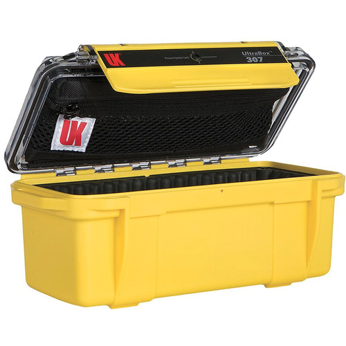 Underwater Kinetics UltraBox 307 (Yellow/Clear Lid with Pouch, Padded Box)