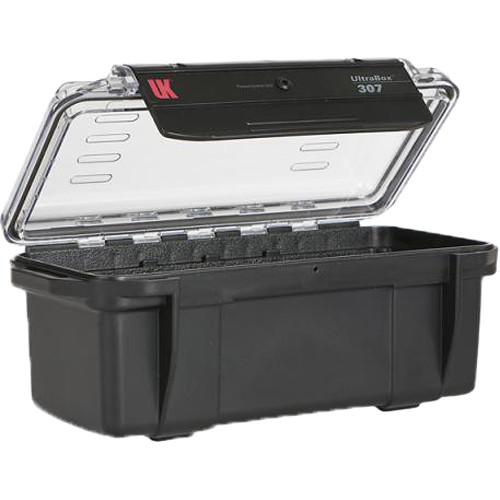 Underwater Kinetics UltraBox 307 (Black/Clear Lid with Pouch, Padded Box)