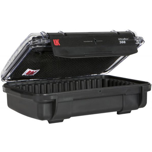 Underwater Kinetics UltraBox 308 (Black/Clear Lid with Pouch, Padded Box)