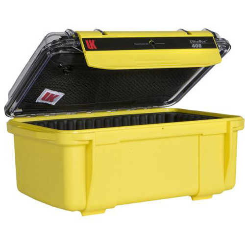 Underwater Kinetics UltraBox 408 (Yellow/Clear Lid with Pouch, Padded Box)