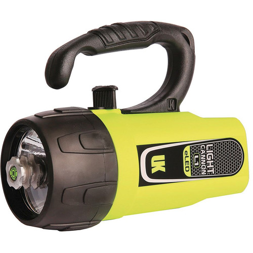 Underwater Kinetics Light Cannon eLED L1 Dive Light with Lantern Grip (Safety Yellow, Box)