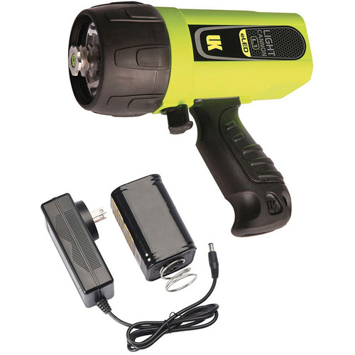 Underwater Kinetics Light Cannon eLED L1 Rechargeable Dive Light with Pistol Grip (Safety Yellow, Box)