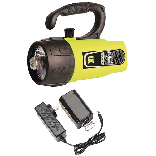 Underwater Kinetics Light Cannon eLED L1 Rechargeable Dive Light with Lantern Grip (Safety Yellow, Box)