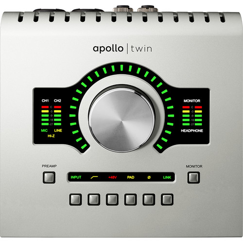 Universal Audio Apollo Twin USB Desktop 10x6 USB Audio Interface with Real-Time UAD Processing for Windows