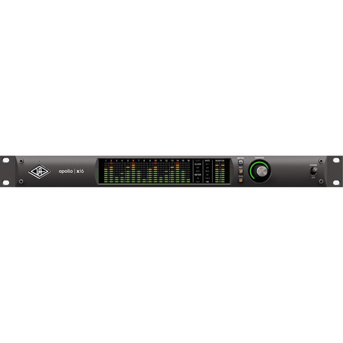 Universal Audio Apollo x16 Rack-Mountable Thunderbolt 3 Audio Interface with Real-Time UAD Processing
