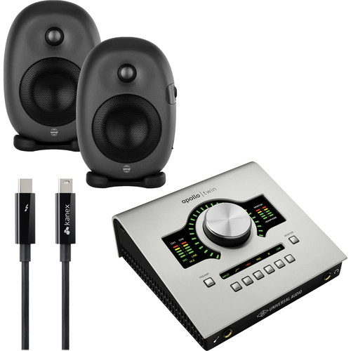 Universal Audio Apollo Twin DUO + Senal ASM-4 Powered Speakers Audio Recording System