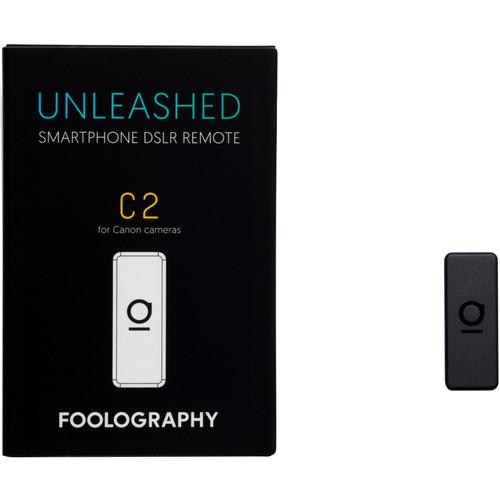 Foolography Unleashed C2 Smartphone DSLR Remote for Canon 5D Mark II, 5D Mark III, 7D, 6D, 6D Mark II, 60D, 77D, 80D, T1i, T2i, T5i, T6i, T6s, T7i, SL1, SL2, SL, 3, T3, T5, T6, T7, 4000DCameras