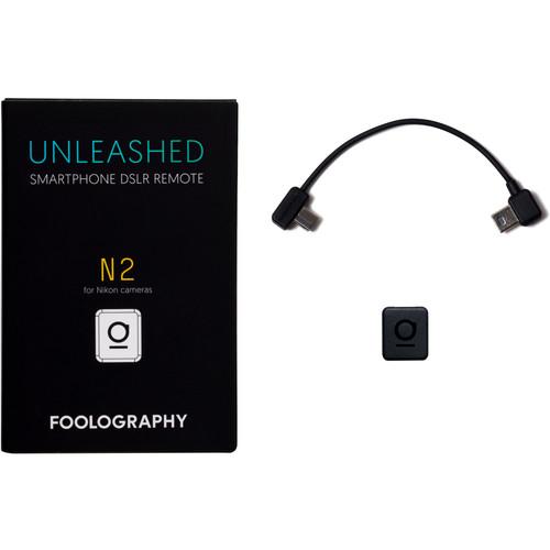 Foolography Unleashed N2 Smartphone DSLR Remote for Nikon D610, D600, D7000, D90Cameras