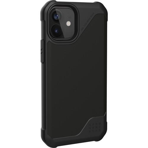 Urban Armor Gear Metropolis LT Smartphone Case for Apple iPhone 12 mini (SATN ARMR Black)