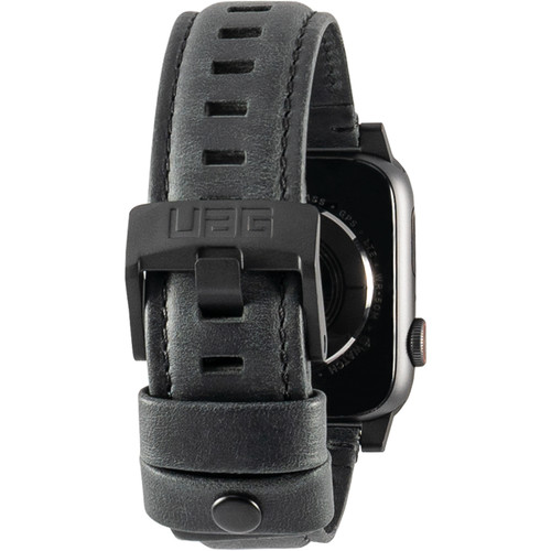 Urban Armor Gear Leather Watch Strap for 42mm/44mm Apple Watch (Black)