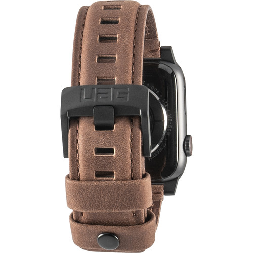 Urban Armor Gear Leather Watch Strap for 42mm/44mm Apple Watch (Brown)