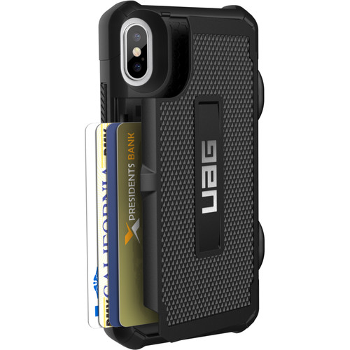 Urban Armor Gear Trooper Card Case for iPhone X (Black)