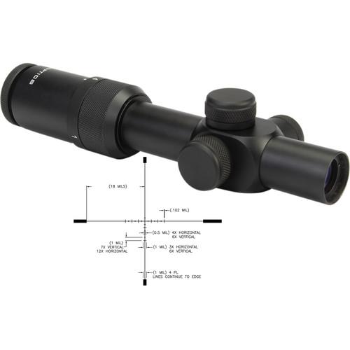 US OPTICS 1-4x22 SR-4C Riflescope (Mil-Scale Duplex Crosshair Illuminated Reticle)