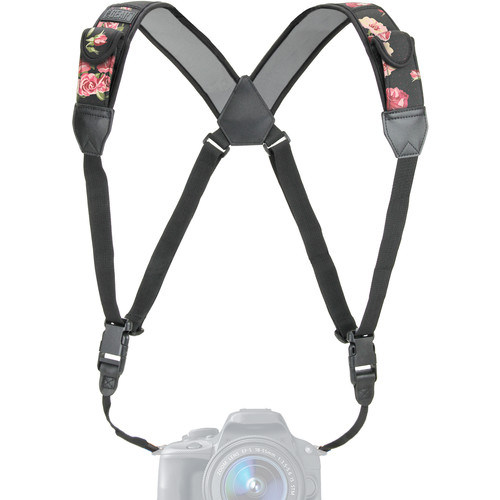 USA GEAR TrueSHOT Camera Harness Strap (Floral)
