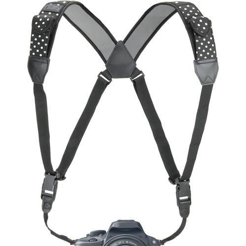 USA GEAR TrueSHOT Camera Harness Strap (Polka Dot)