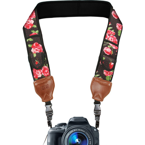 USA GEAR Camera Strap Neoprene (Floral)