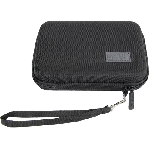 "USA GEAR H Series Hardshell Electronics Carry Case with Accessory Pocket (Black, 6.5 x 4.5 x 1.5"")"