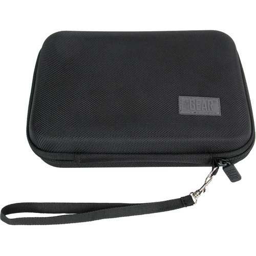 "USA GEAR H Series Hardshell Electronics Carry Case with Accessory Pocket (Black, 7.5 x 5.5 x 1.5"")"
