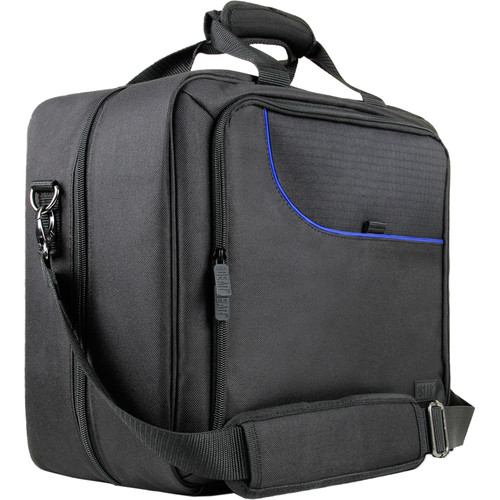 USA GEAR S13 Travel Carrying Case for PlayStation 4 (Gray/Blue)
