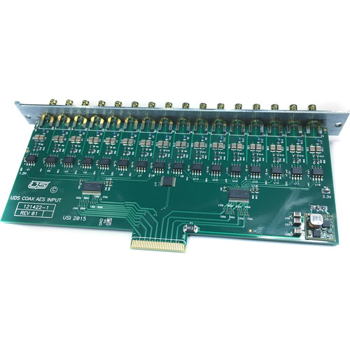 Utah Scientific 16-Unbalanced AES Input Expansion Card Module for UTAH-100/UDS Routing Switcher