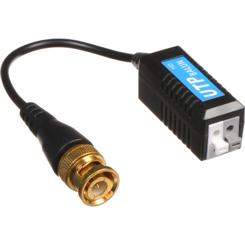 UTP Balun Passive HD Video Balun Extender over CAT5/6 Cable (Pigtail BNC, Up to 984')