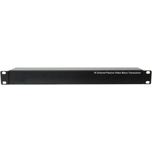UTP Balun VPB800TRJ 16-Channel 1U Passive Video Transceiver Balun (Black)