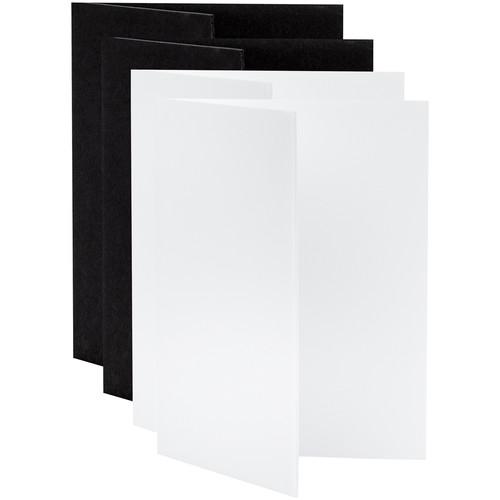 "V-FLAT WORLD Tabletop V-Flat Small (18 x 12"", 2 White, 2 Black)"