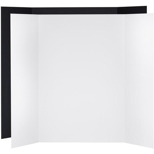 V-FLAT WORLD Tabletop V-Flat Large (4 x 3', 1 White / 1 Black)