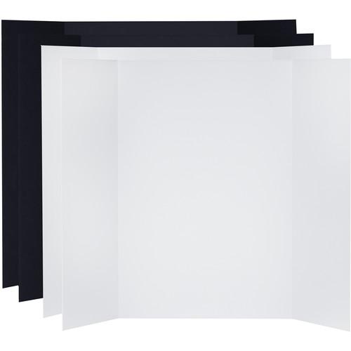 V-FLAT WORLD Tabletop V-Flat Large (4 x 3', 2 White / 2 Black)
