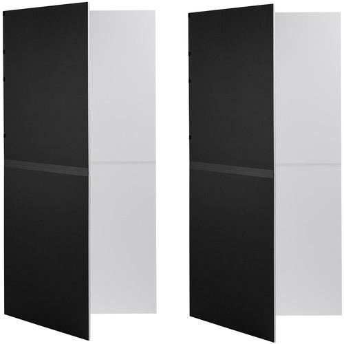 V-FLAT WORLD Foldable V-Flat Kit (Black/White, 2-Pack)
