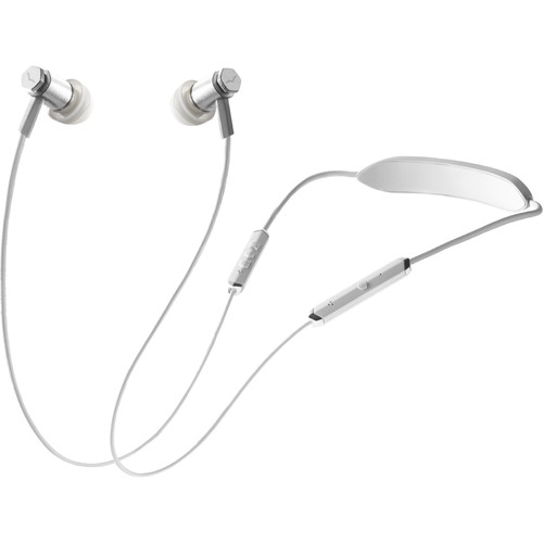 V-MODA Forza Metallo Bluetooth Wireless In-Ear Headphones (White Silver)
